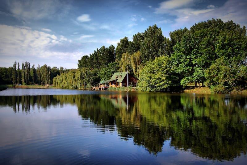 Het meer van Nice royalty-vrije stock afbeeldingen