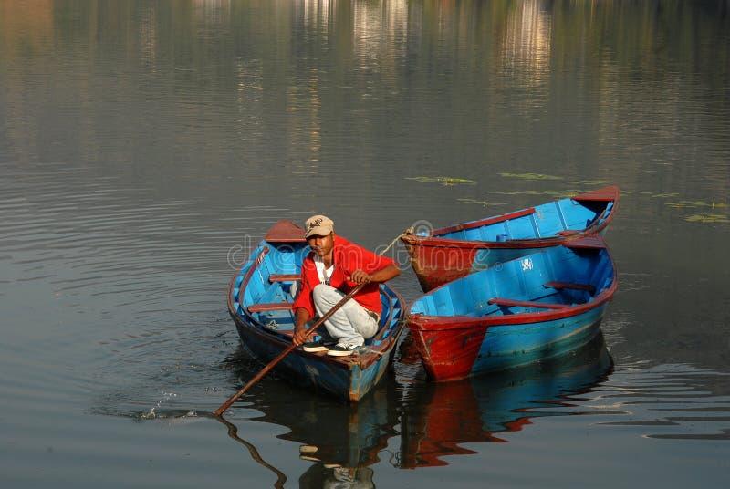 Het Meer van Pokhara royalty-vrije stock foto