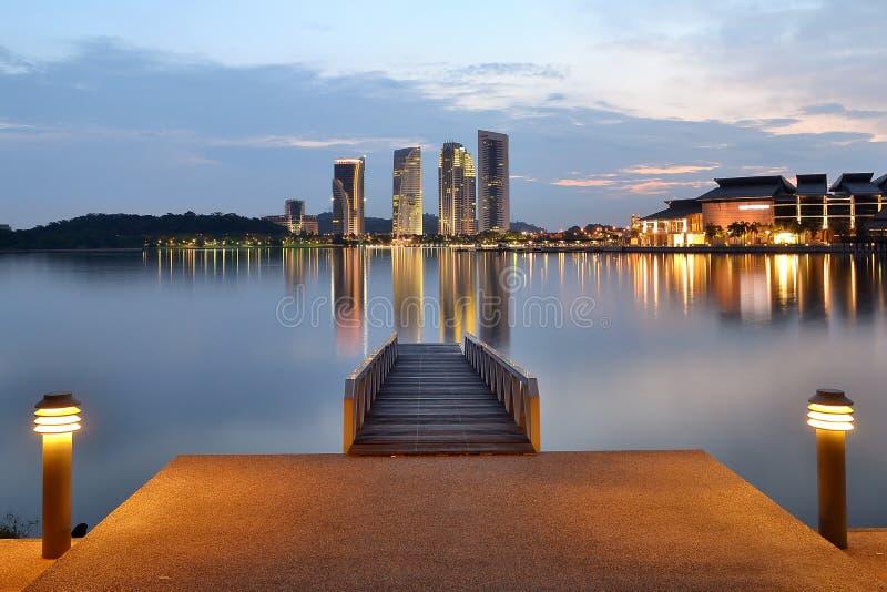 Het Meer van Putrajaya stock foto's