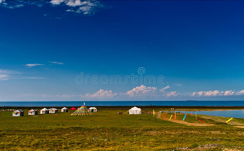 Het meer van Qinghai stock foto