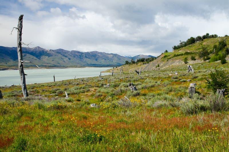 Het Meer van Roca, het zuidenwapen van Lago Argentinië in zuidelijke Patagoni royalty-vrije stock foto's
