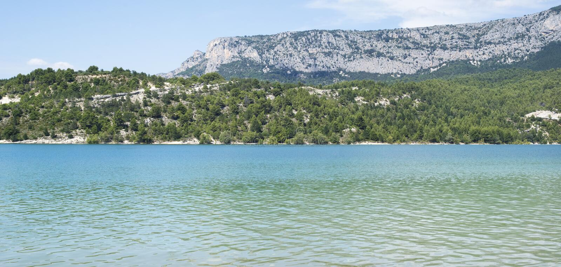 Het meer van sainte-Croix, Frankrijk stock fotografie