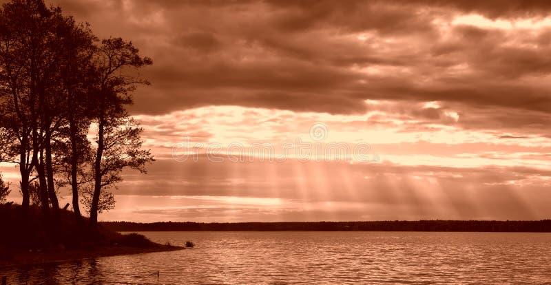 Het meer van Seliger stock afbeelding