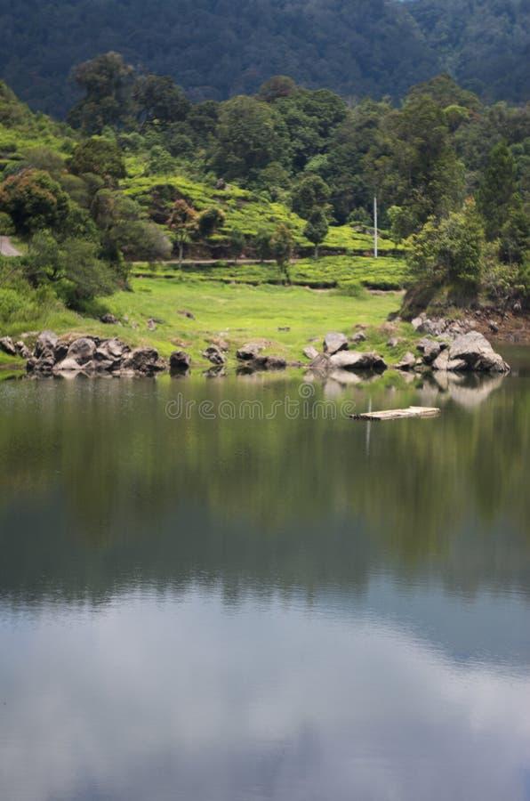 Het meer van Situpatenggang, Ciewedey, Zuiden van Bandung royalty-vrije stock fotografie
