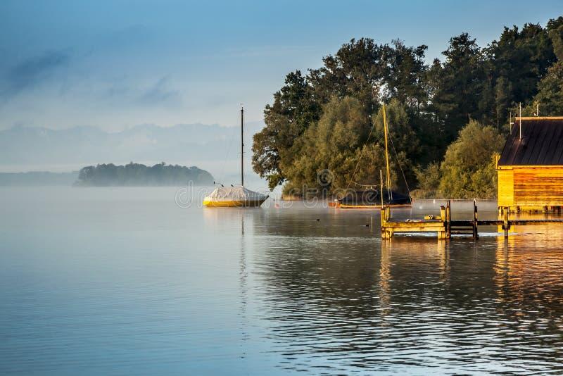 Het meer van Starnberg stock fotografie