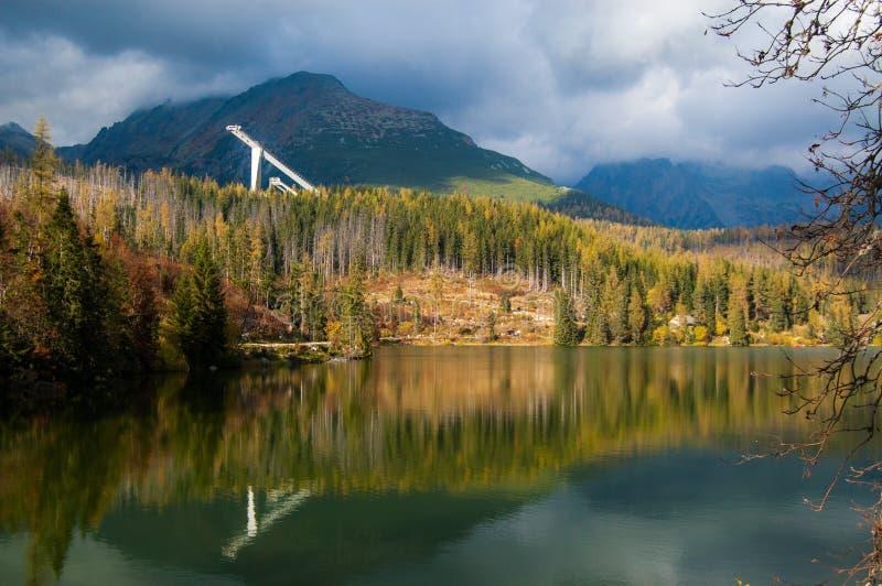 Het meer van Strba stock foto's
