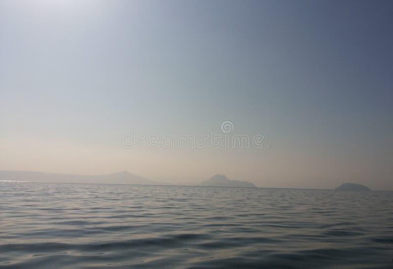 Het meer van Taal stock afbeelding