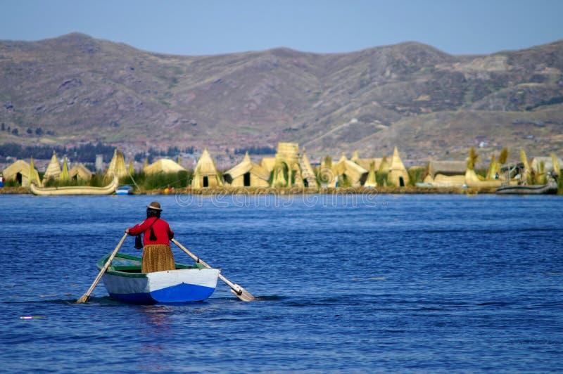 Het meer van Titicaca stock fotografie