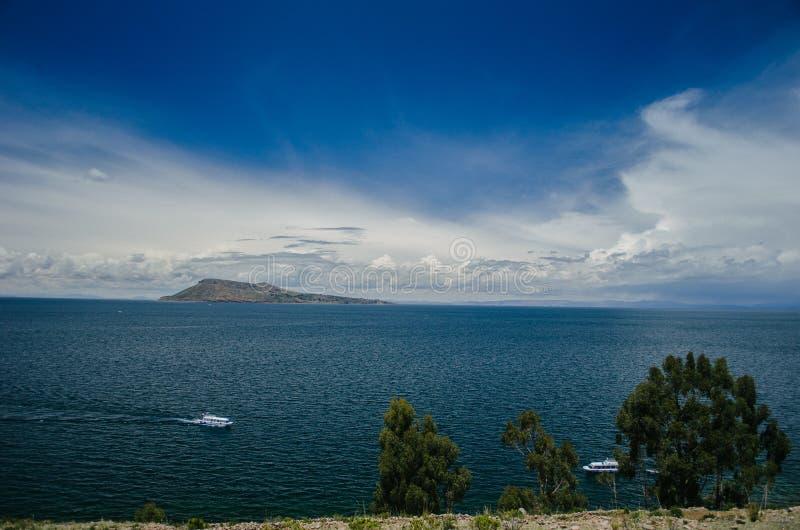 Het meer van Titicaca royalty-vrije stock foto