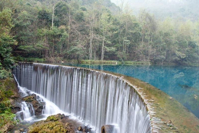 Het Meer van Wolong royalty-vrije stock fotografie