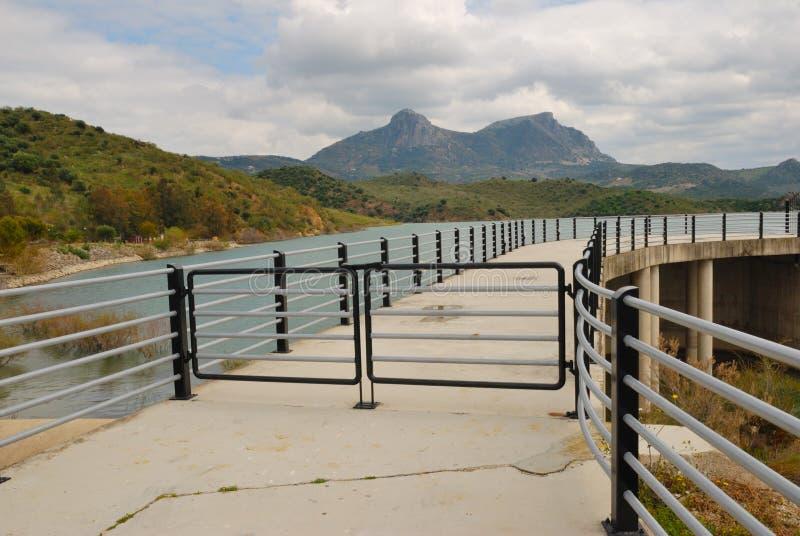 Het meer Zahara van de brug stock afbeelding
