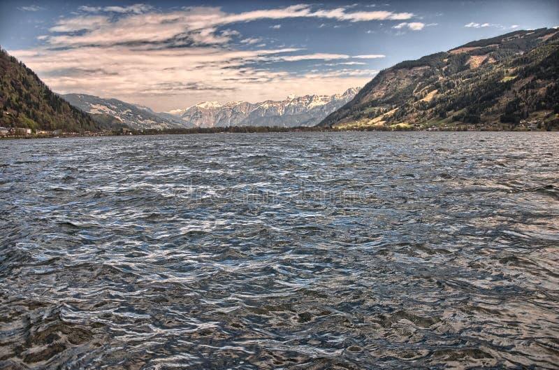 Het meer Zell am ziet royalty-vrije stock fotografie