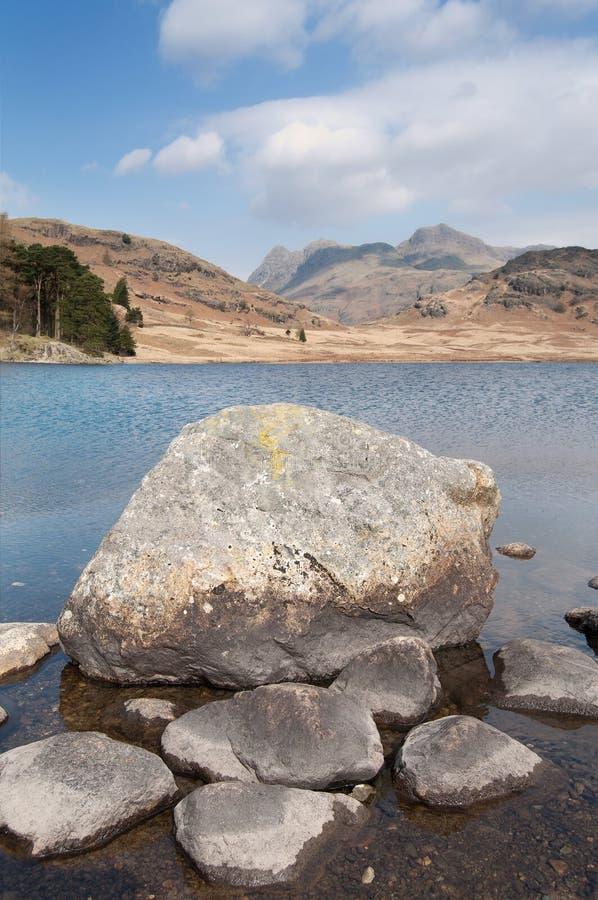 Het meerlandschap van de berg royalty-vrije stock afbeelding