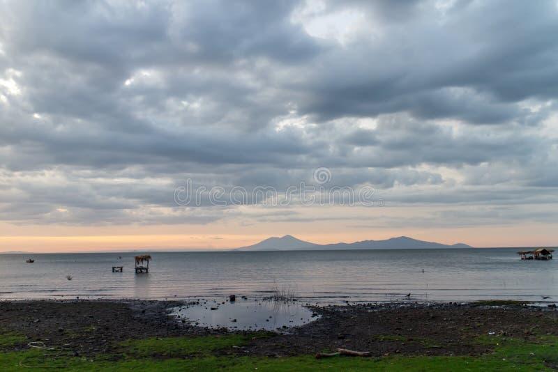 Het meermening van Nicaragua van Ometepe stock fotografie