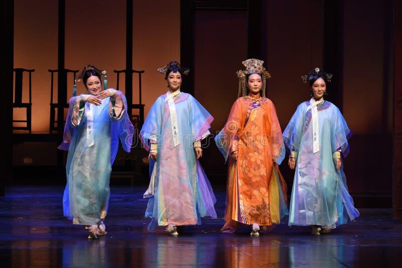 Het meespelen van de Keizerinnen van het gordijn vraag-moderne drama in het Paleis royalty-vrije stock afbeelding