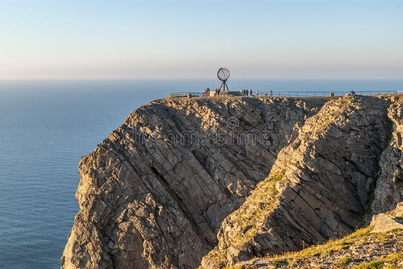 Het meest noordelijke punt in Europa Nordkapp stock afbeeldingen
