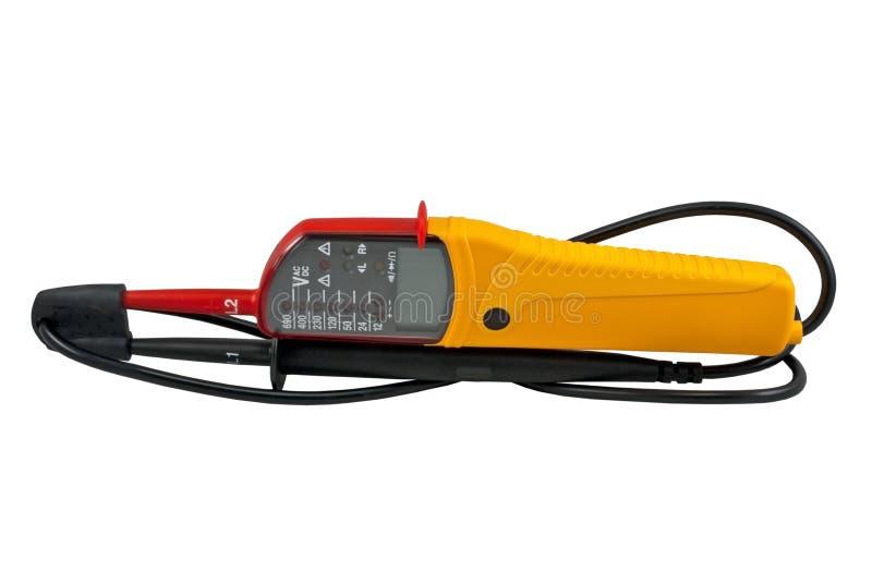 Het meetapparaat van het voltage stock foto