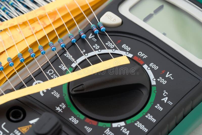 Het meetinstrument van de multimeter stock foto's