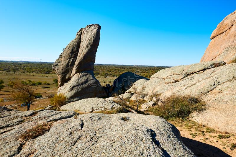 Het megaliet op de bergen royalty-vrije stock foto