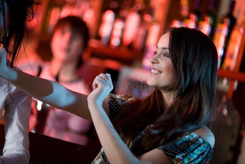 Het meisje danst royalty-vrije stock foto