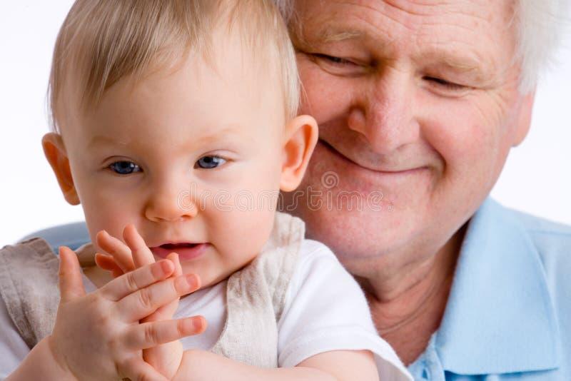 Het meisje dat van de baby de handen slaat royalty-vrije stock foto's