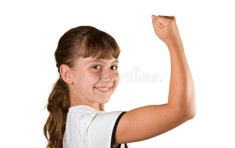 Het meisje de atleet stock afbeelding