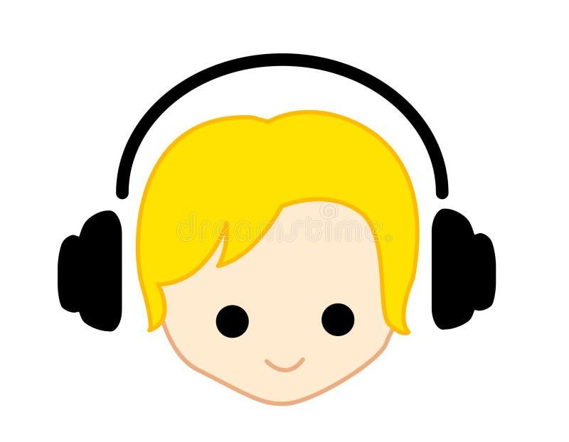 Het meisje/de jongen van de muziek stock illustratie