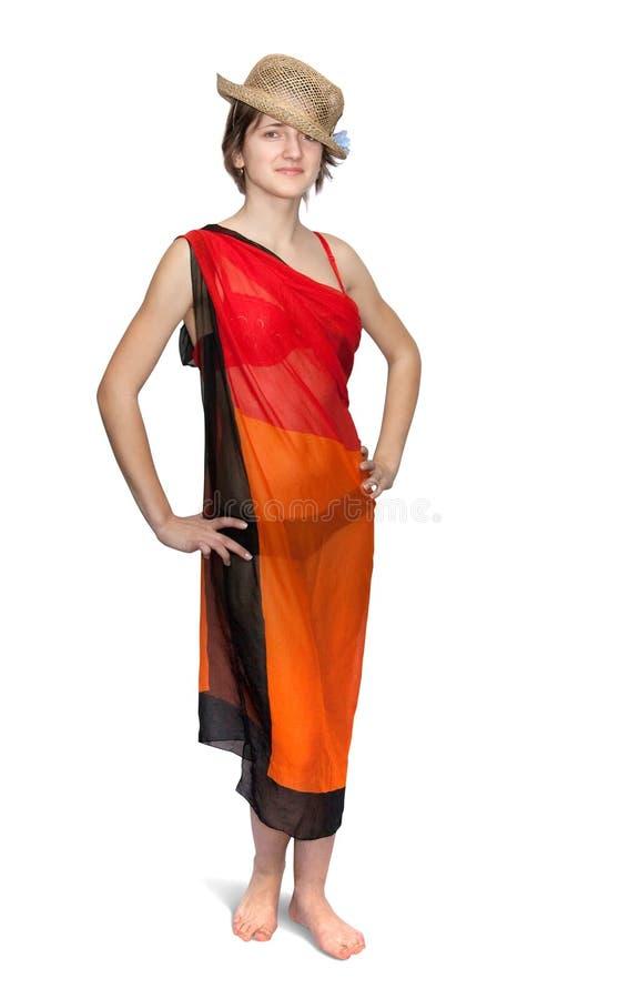 Download Het Meisje Kleedde Zich In Pareo Stock Afbeelding - Afbeelding bestaande uit omslag, glimlach: 10778513