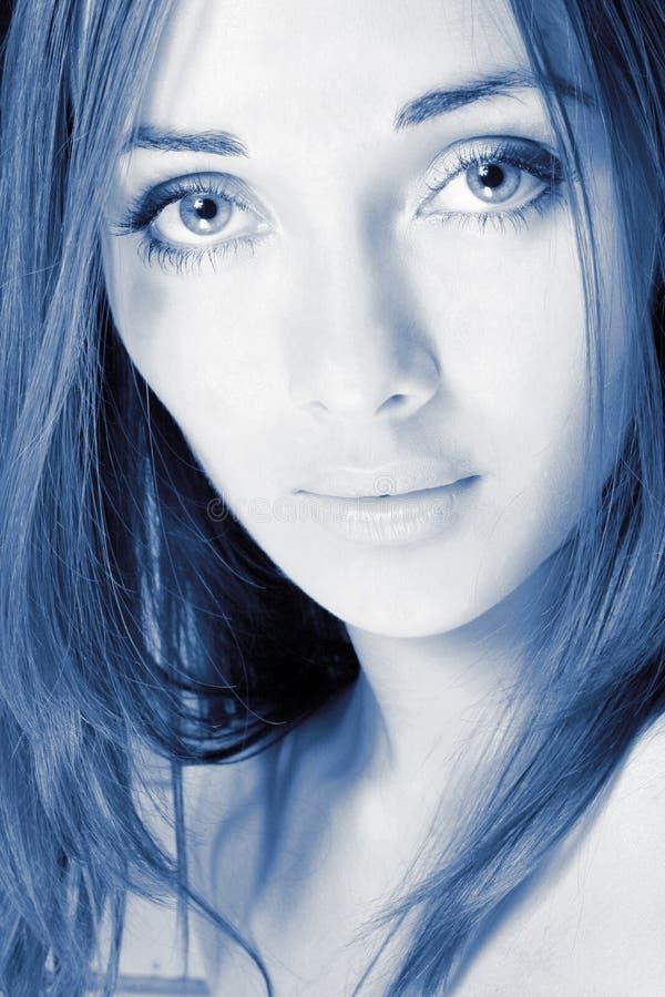 Het meisje met de grote ogen stock foto's
