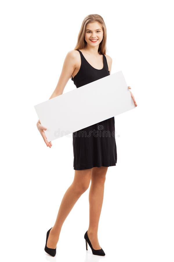 Het meisje met het document royalty-vrije stock foto