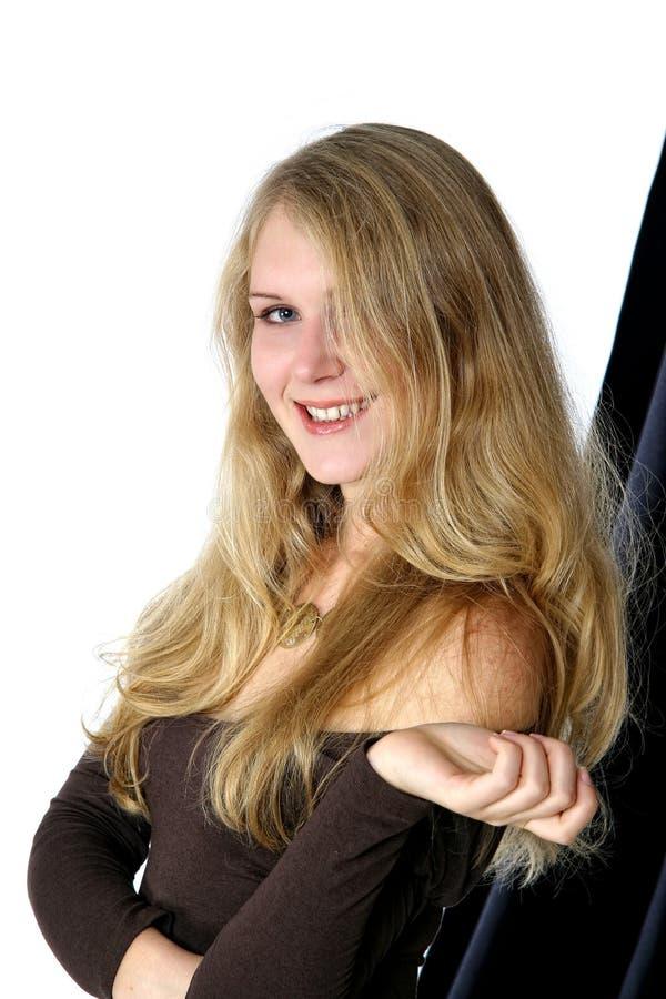 Het meisje met lang haar royalty-vrije stock foto