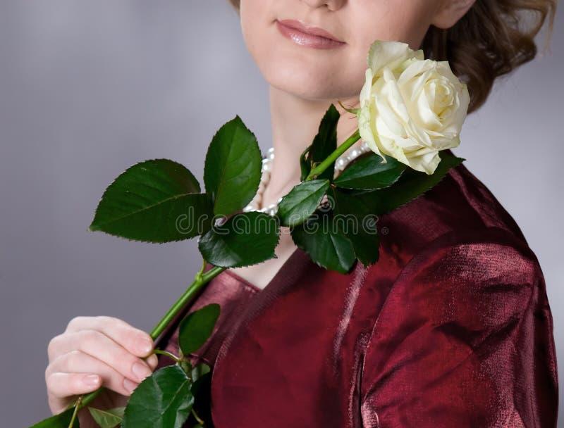 Het meisje met nam toe royalty-vrije stock foto