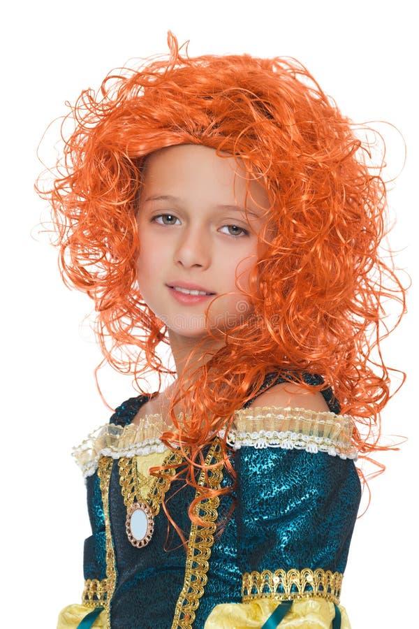 Het meisje met oranje haar royalty-vrije stock fotografie
