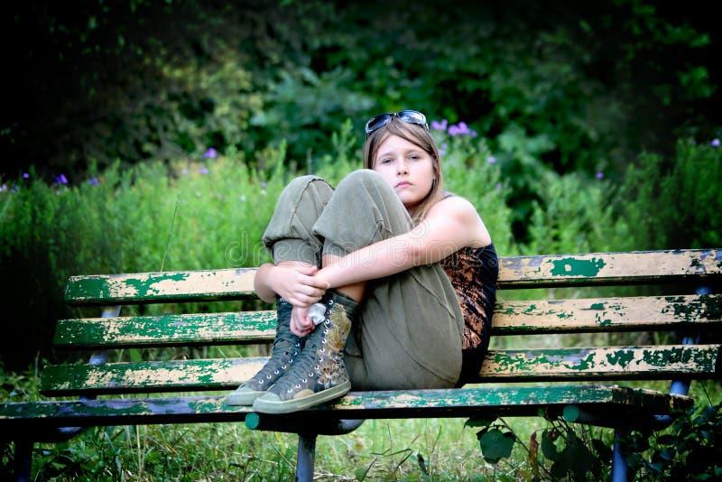 Het meisje is teleurgesteld royalty-vrije stock fotografie