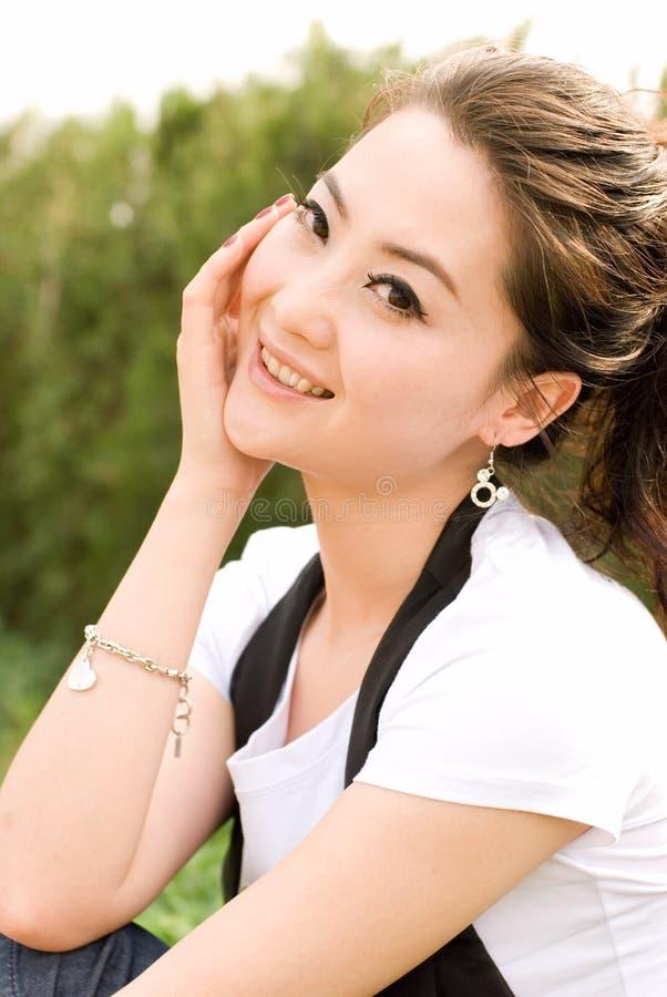 Het meisje van Asain stock afbeelding