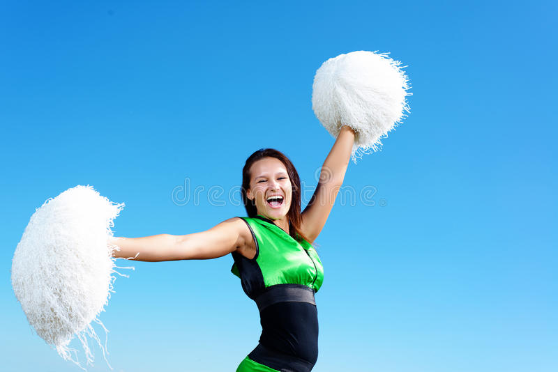 Het meisje van Cheerleader royalty-vrije stock afbeeldingen