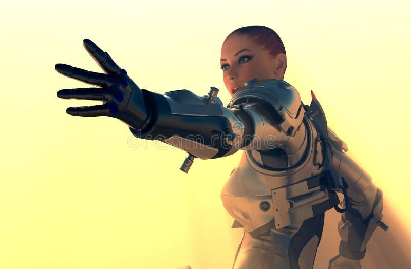 Het meisje van Cyborg royalty-vrije illustratie