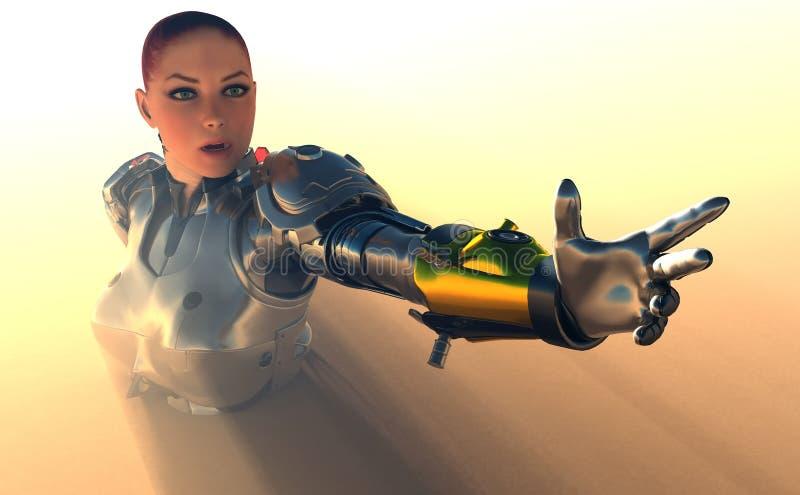 Het meisje van Cyborg vector illustratie