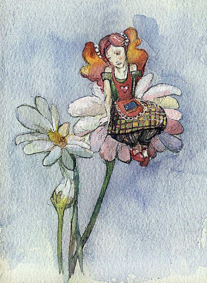 Het meisje van Daisy (reeks B) stock illustratie
