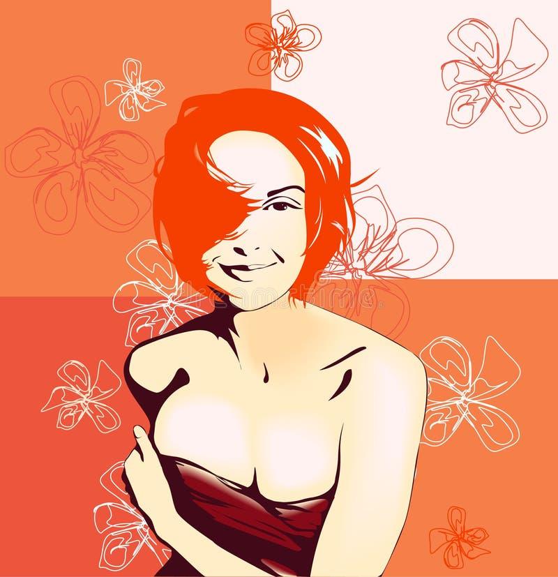 Het meisje van de aantrekkingskracht vector illustratie