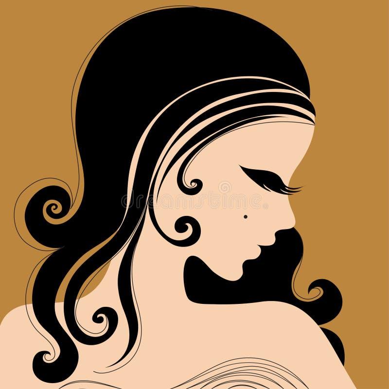 Het meisje van de aantrekkingskracht royalty-vrije illustratie