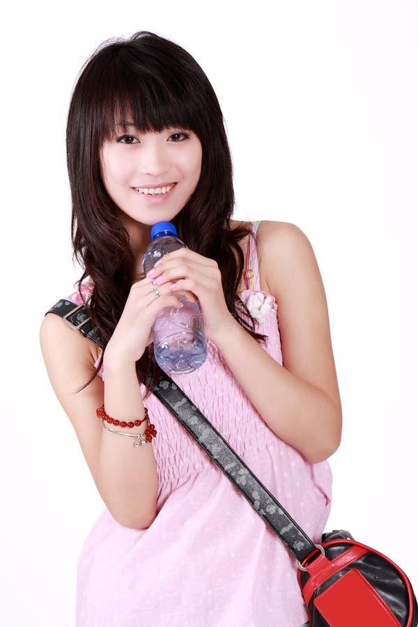 Het meisje van de Aziatische manier stock afbeeldingen