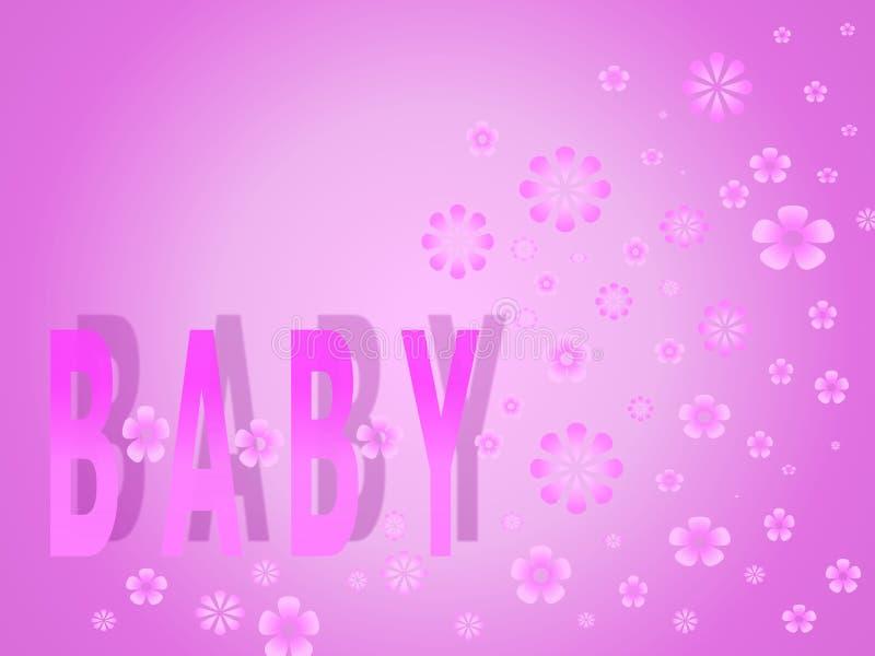 Het meisje van de baby stock illustratie