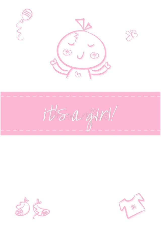 Het Meisje Van De Baby - De Aankondiging Van De Geboorte Stock Afbeelding