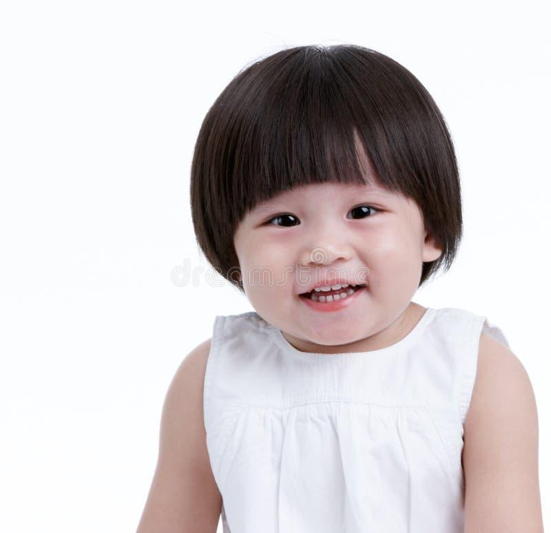 Het meisje van de baby het glimlachen royalty-vrije stock afbeeldingen