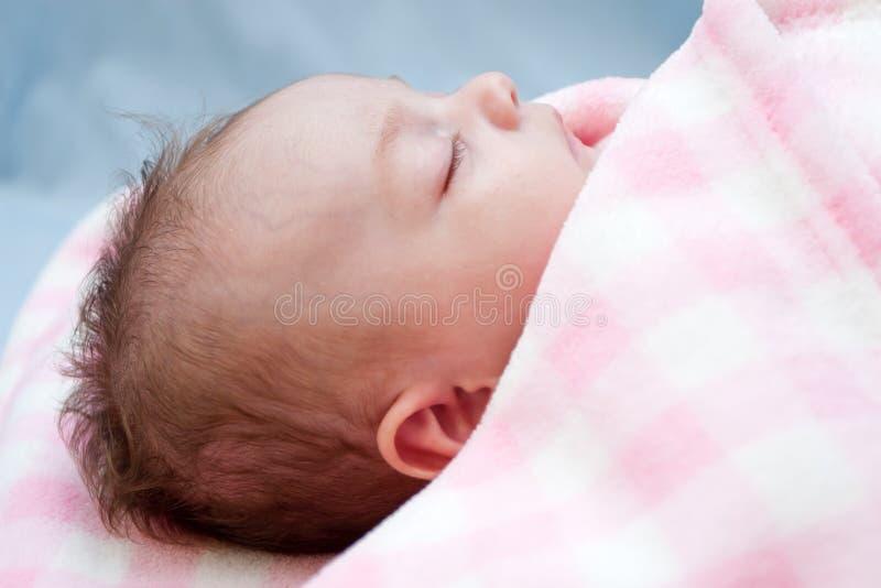 Het Meisje van de Baby van de slaap stock foto