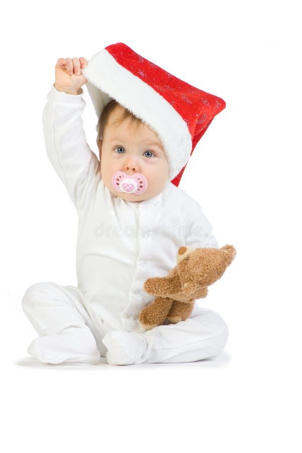 Het Meisje van de Baby van Kerstmis stock afbeeldingen