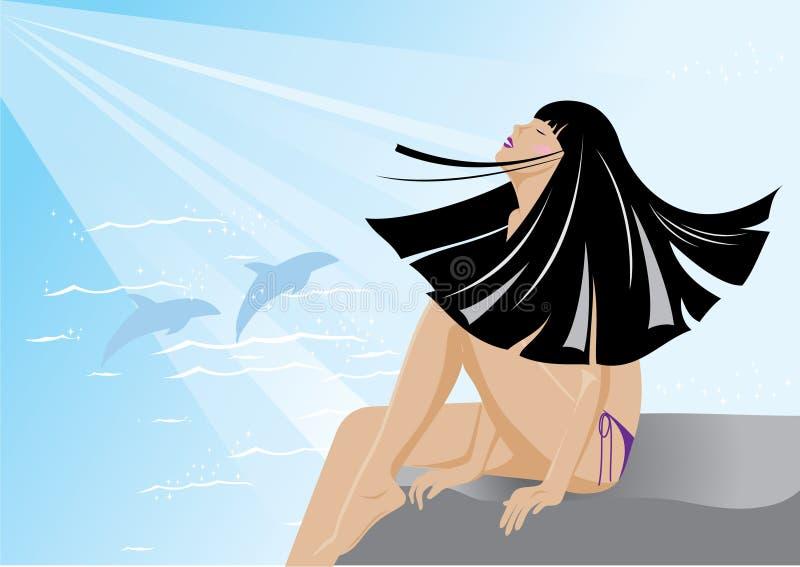 Het meisje van de bikini stock illustratie