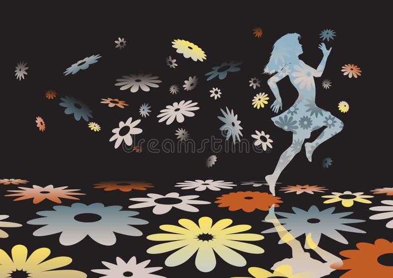 Het meisje van de bloem vector illustratie