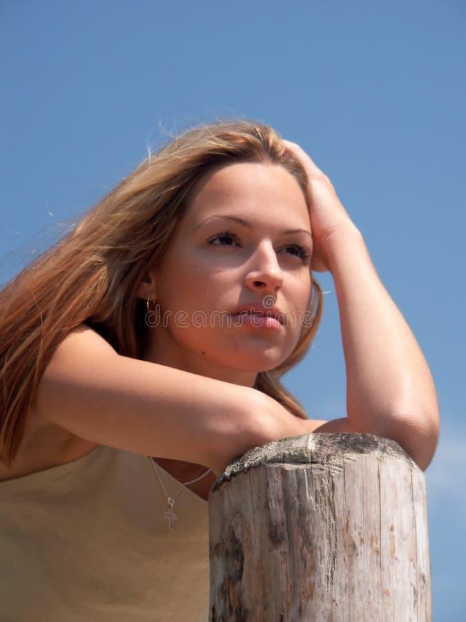 Het meisje van de blonde stock afbeelding